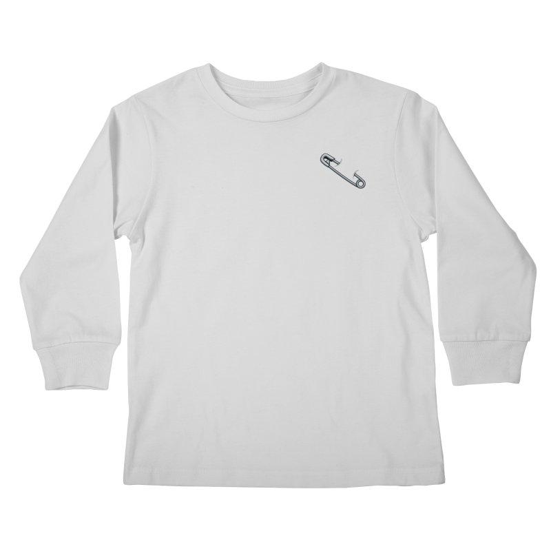 #SafetyPin Kids Longsleeve T-Shirt by dinonuggets's Artist Shop