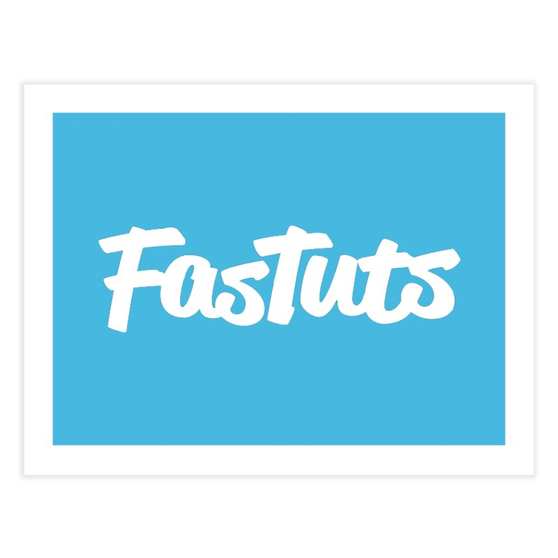 Fastuts Logo Home Fine Art Print by dinonuggets's Artist Shop