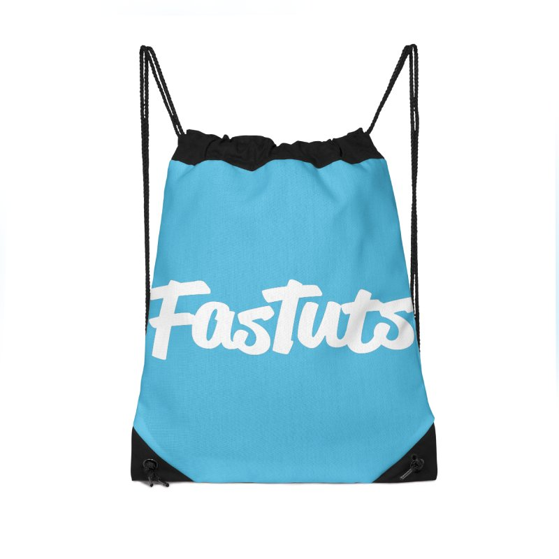 Fastuts Logo Accessories Drawstring Bag Bag by dinonuggets's Artist Shop