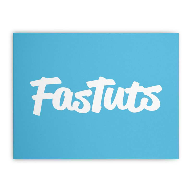 Fastuts Logo Home Stretched Canvas by dinonuggets's Artist Shop