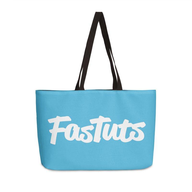 Fastuts Logo Accessories Weekender Bag Bag by dinonuggets's Artist Shop