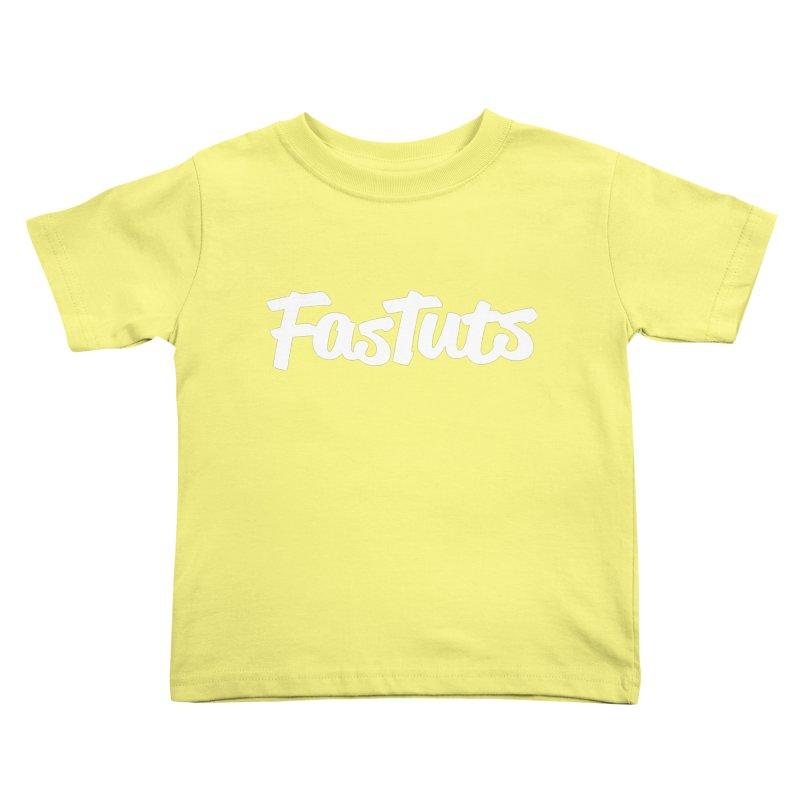Fastuts Logo Kids Toddler T-Shirt by dinonuggets's Artist Shop