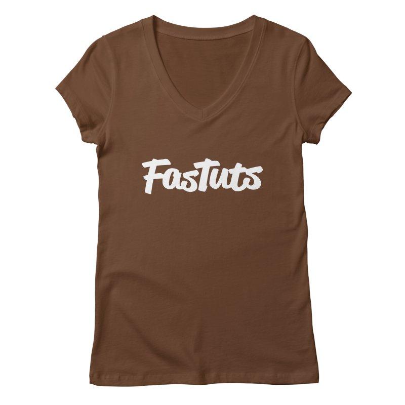 Fastuts Logo Women's Regular V-Neck by dinonuggets's Artist Shop