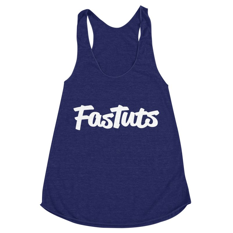 Fastuts Logo Women's Racerback Triblend Tank by dinonuggets's Artist Shop