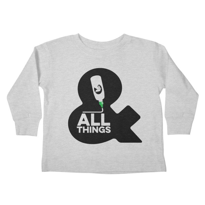Sriracha & ALL THINGS Kids Toddler Longsleeve T-Shirt by dinonuggets's Artist Shop