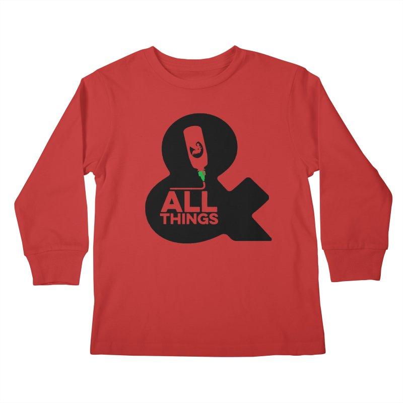 Sriracha & ALL THINGS Kids Longsleeve T-Shirt by dinonuggets's Artist Shop