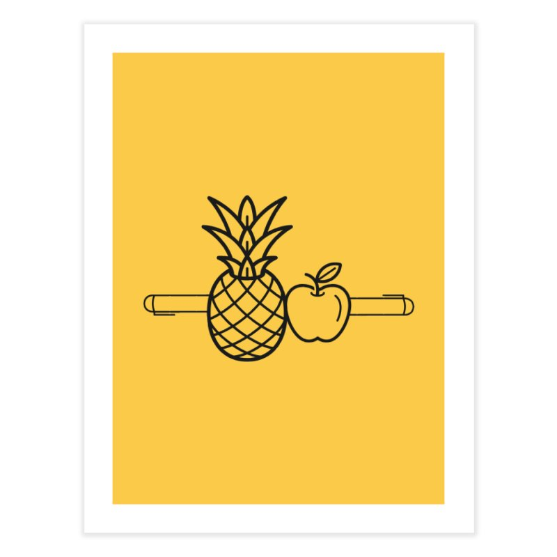 PPAP Pen Pineapple Apple Pen Home Fine Art Print by dinonuggets's Artist Shop