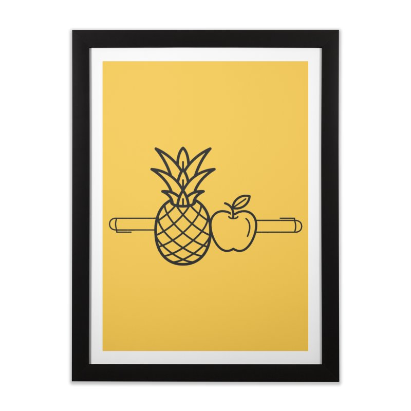 PPAP Pen Pineapple Apple Pen Home Framed Fine Art Print by dinonuggets's Artist Shop