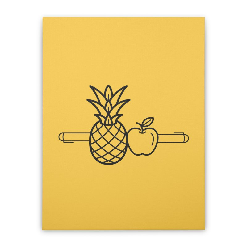 PPAP Pen Pineapple Apple Pen Home Stretched Canvas by dinonuggets's Artist Shop