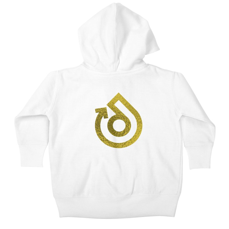 GOLD FOIL Kids Baby Zip-Up Hoody by direction.church gear