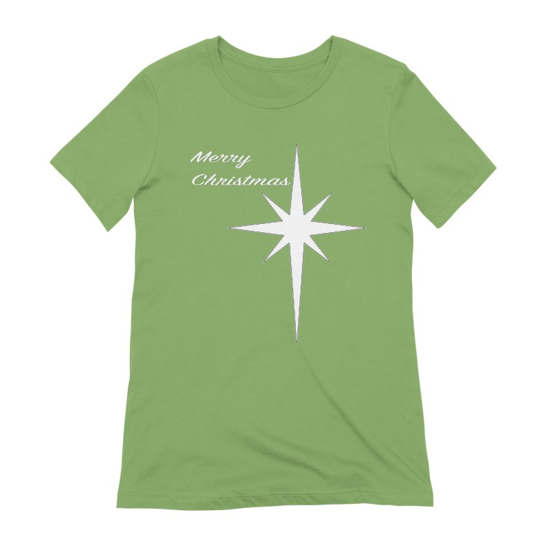 Christmas Star Women's Extra Soft T-Shirt by direction.church gear