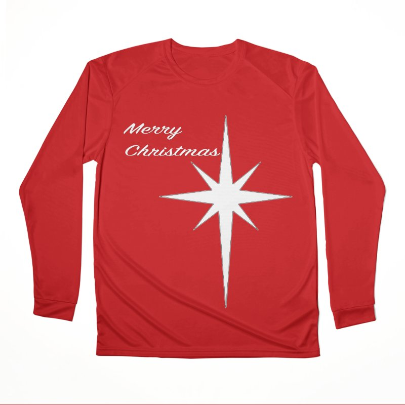 Christmas Star Women's Performance Unisex Longsleeve T-Shirt by direction.church gear