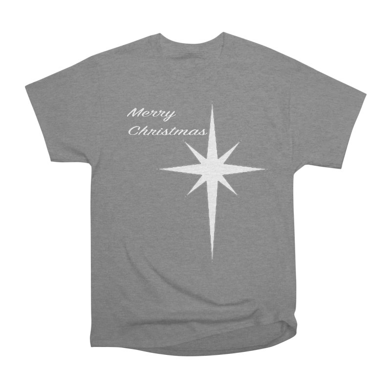 Christmas Star Men's Heavyweight T-Shirt by direction.church gear