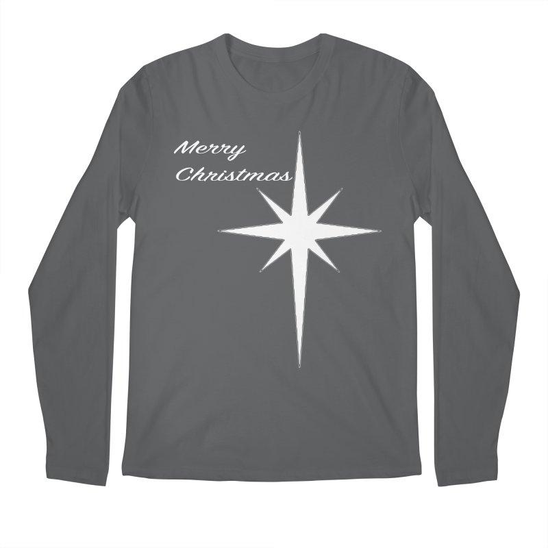 Christmas Star Men's Regular Longsleeve T-Shirt by direction.church gear