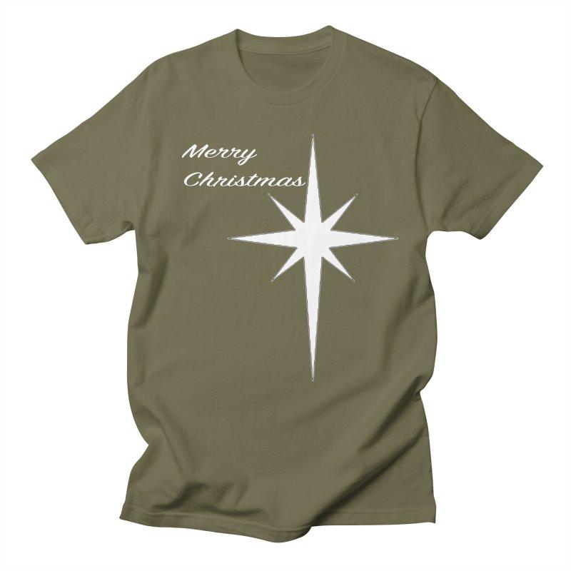 Christmas Star Men's Regular T-Shirt by direction.church gear
