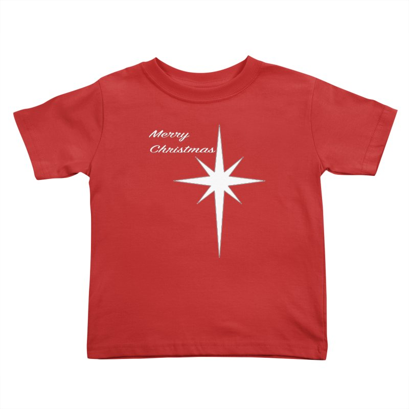Christmas Star Kids Toddler T-Shirt by direction.church gear