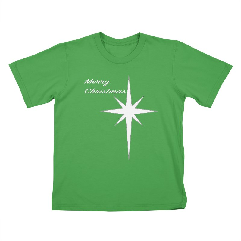 Christmas Star Kids T-Shirt by direction.church gear