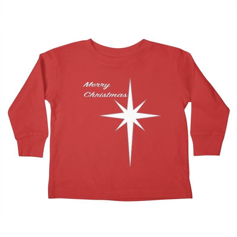 Christmas Star Kids Toddler Longsleeve T-Shirt by direction.church gear