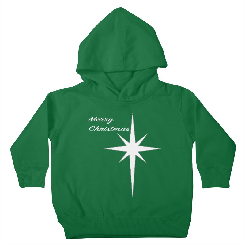 Christmas Star Kids Toddler Pullover Hoody by direction.church gear