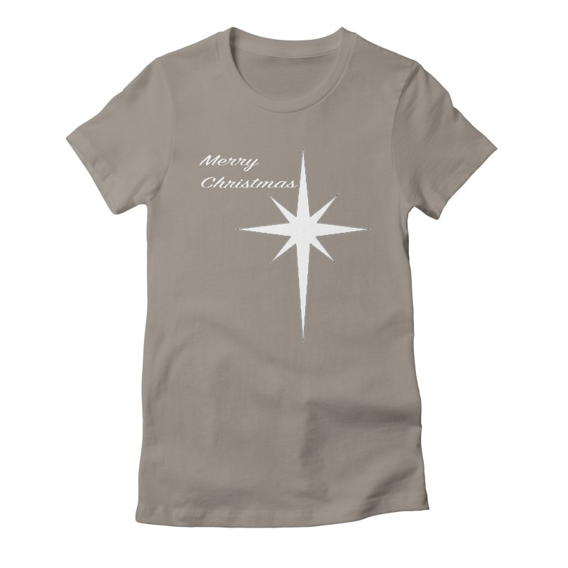 Christmas Star Women's Fitted T-Shirt by direction.church gear