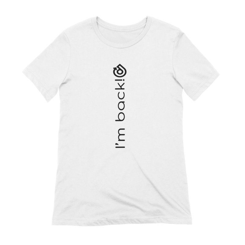 The Comeback Black Print Women's Extra Soft T-Shirt by direction.church gear