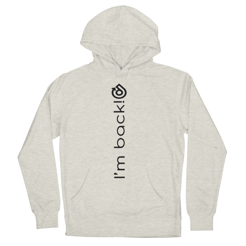 The Comeback Black Print Women's French Terry Pullover Hoody by direction.church gear