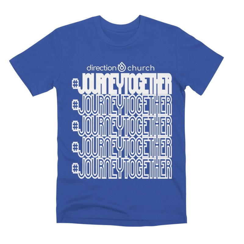 journeytogether repeat white print Men's Premium T-Shirt by direction.church gear