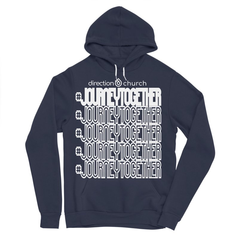 journeytogether repeat white print Women's Sponge Fleece Pullover Hoody by direction.church gear