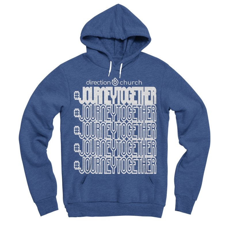 journeytogether repeat white print Men's Sponge Fleece Pullover Hoody by direction.church gear