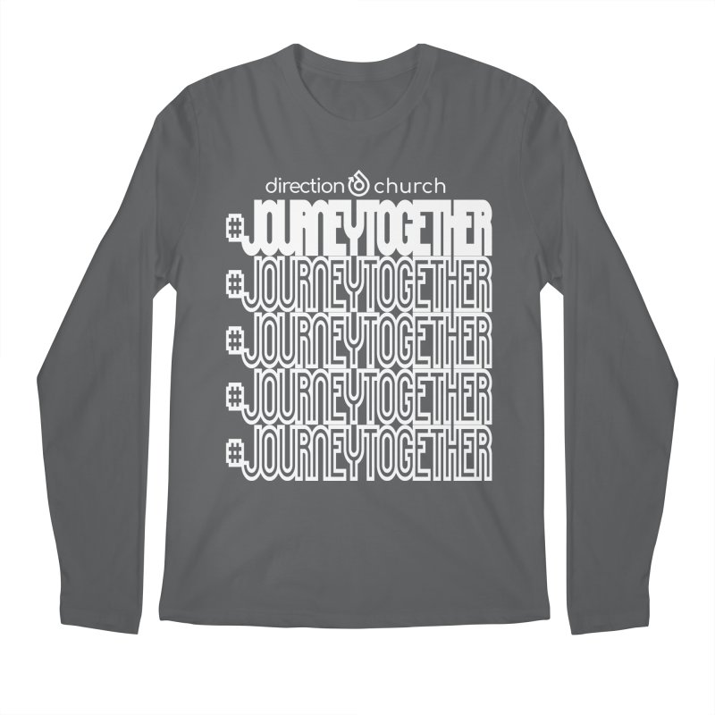 journeytogether repeat white print Men's Regular Longsleeve T-Shirt by direction.church gear