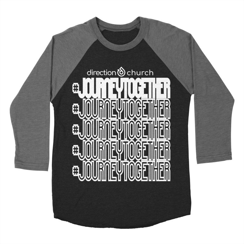journeytogether repeat white print Women's Baseball Triblend Longsleeve T-Shirt by direction.church gear