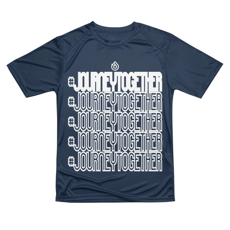 journeytogether repeat white print Men's Performance T-Shirt by direction.church gear