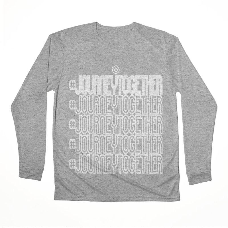 journeytogether repeat white print Men's Performance Longsleeve T-Shirt by direction.church gear
