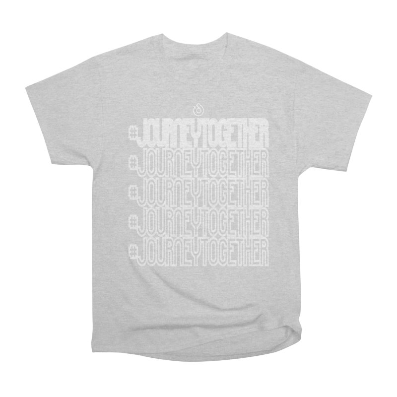 journeytogether repeat white print Men's Heavyweight T-Shirt by direction.church gear