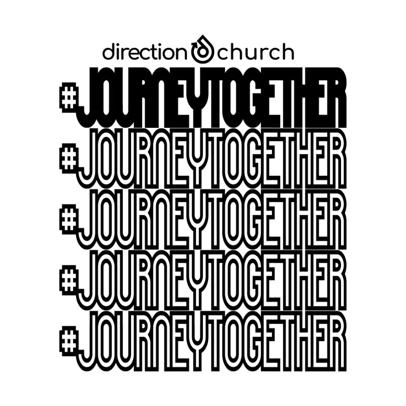 journeytogether repeat black print by direction.church gear
