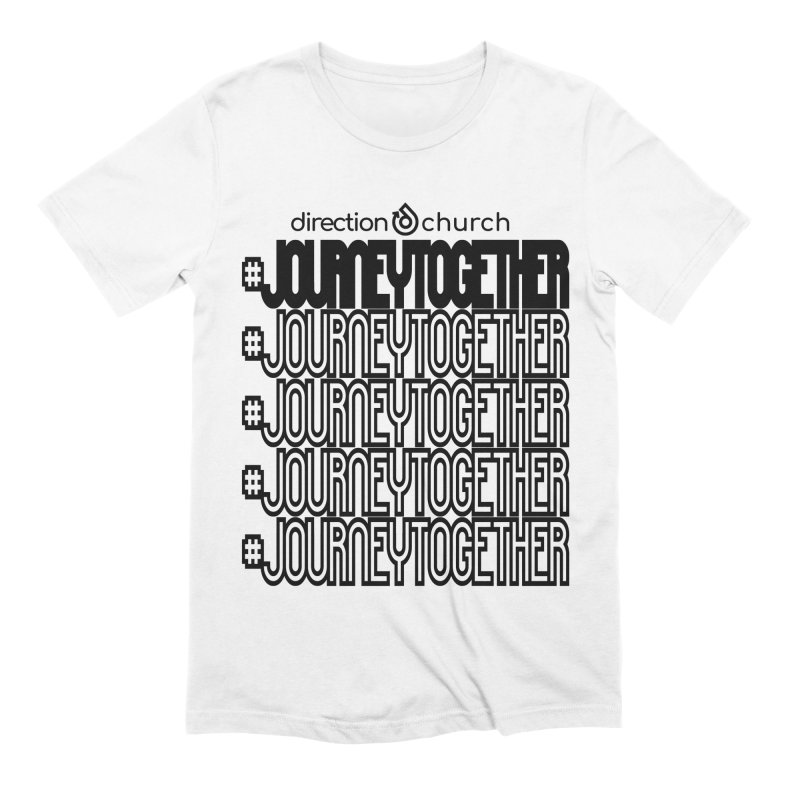 journeytogether repeat black print Men's Extra Soft T-Shirt by direction.church gear