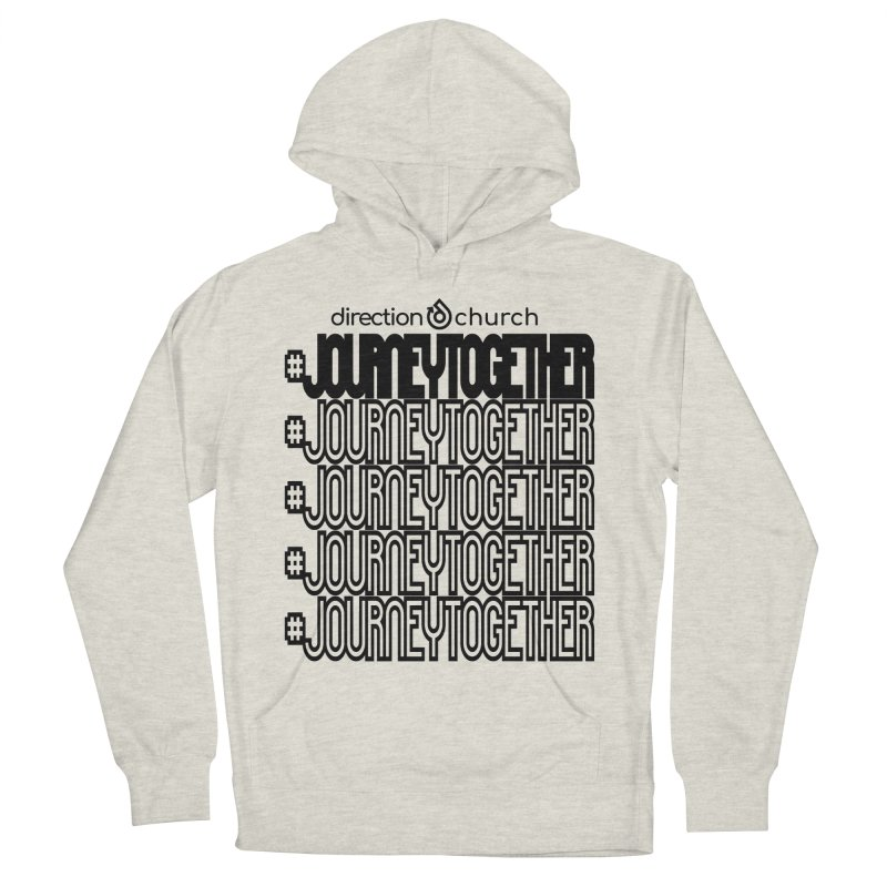 journeytogether repeat black print Men's French Terry Pullover Hoody by direction.church gear