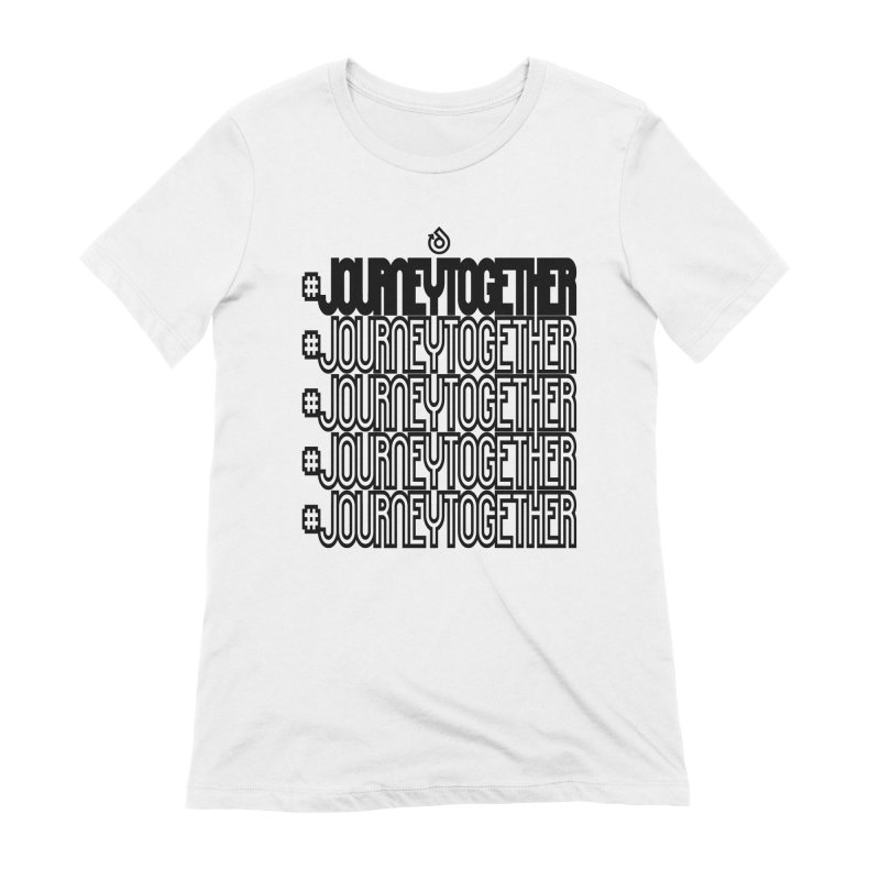 journeytogether repeat black print Women's Extra Soft T-Shirt by direction.church gear