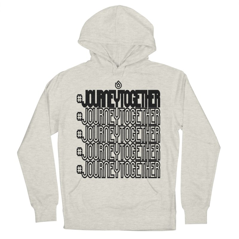 journeytogether repeat black print Women's French Terry Pullover Hoody by direction.church gear