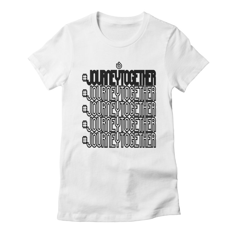 journeytogether repeat black print Women's Fitted T-Shirt by direction.church gear