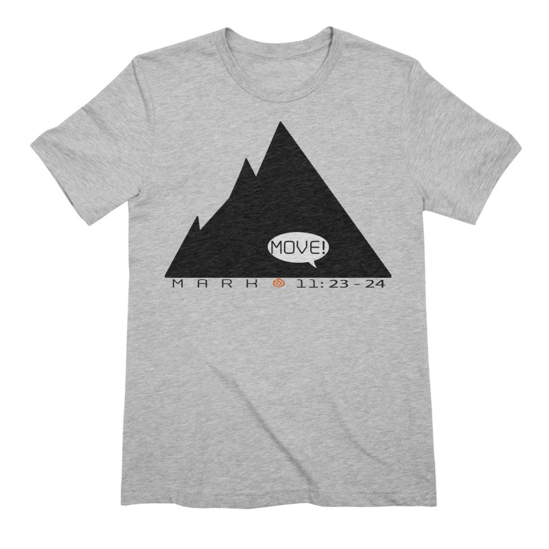 MOVE! BLACK PRINT Men's Extra Soft T-Shirt by direction.church gear