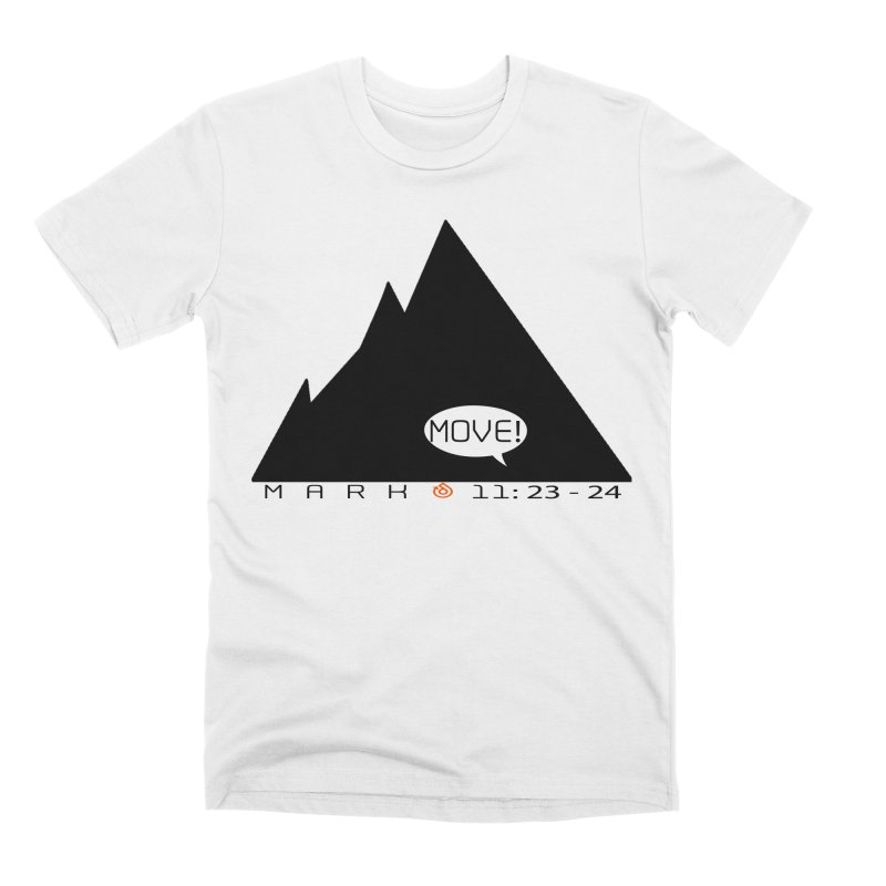 MOVE! BLACK PRINT Men's Premium T-Shirt by direction.church gear