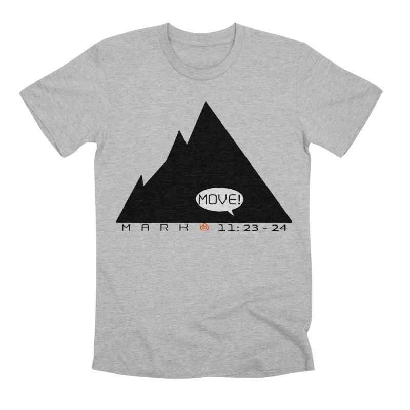 MOVE! BLACK PRINT Men's Premium T-Shirt by direction.church gear