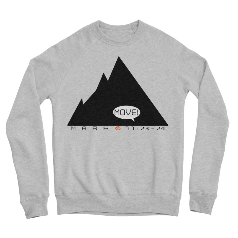 MOVE! BLACK PRINT Men's Sponge Fleece Sweatshirt by direction.church gear