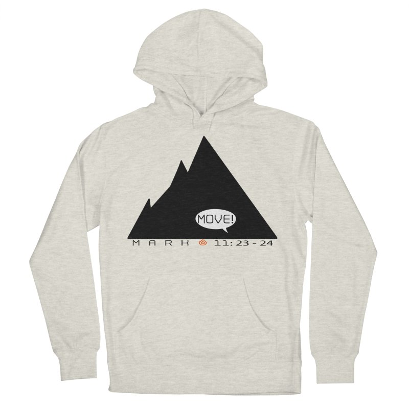 MOVE! BLACK PRINT Women's French Terry Pullover Hoody by direction.church gear
