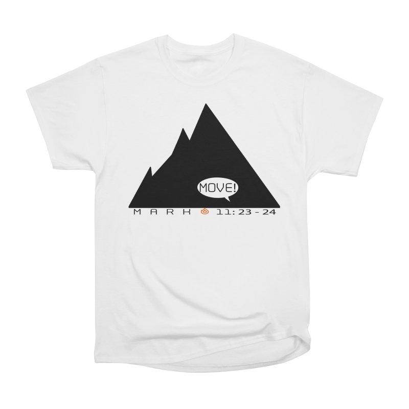 MOVE! BLACK PRINT Men's Heavyweight T-Shirt by direction.church gear