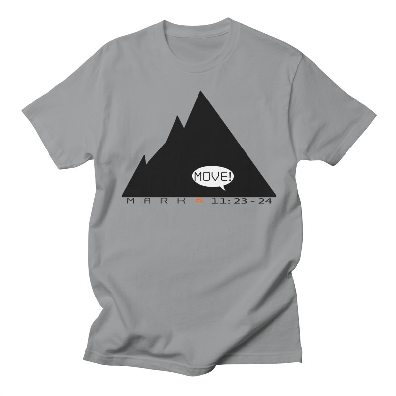 MOVE! BLACK PRINT Men's Regular T-Shirt by direction.church gear