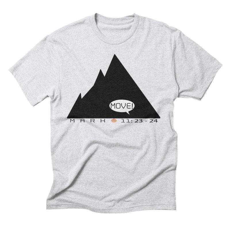 MOVE! BLACK PRINT Men's Triblend T-Shirt by direction.church gear