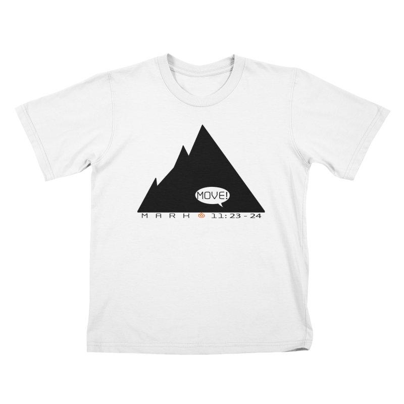 MOVE! BLACK PRINT Kids T-Shirt by direction.church gear