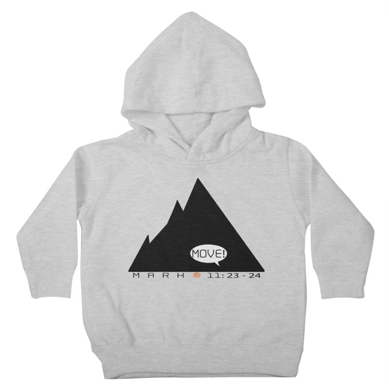 MOVE! BLACK PRINT Kids Toddler Pullover Hoody by direction.church gear